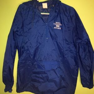 Jackets & Blazers - blue windbreaker